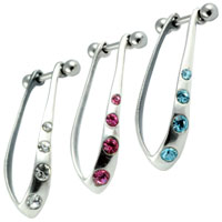 Four crystal ear cuff