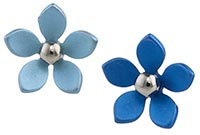 Ti2 titanium large five petal flower studs
