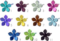 Ti2 titanium small five petal flower stud - single earring