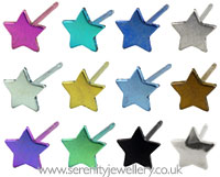 Ti2 titanium star stud earrings