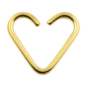 Gold PVD niobium heart ring