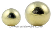 Gold PVD surgical steel screw-on ball