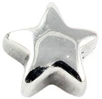 Surgical steel screw-on star - 1.6mm gauge