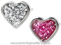 Studex Sensitive surgical steel heart glitter earrings