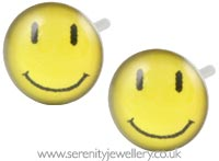 Studex Sensitive surgical steel happy face earrings
