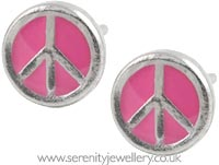 Studex Sensitive surgical steel peace sign earrings