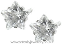 Studex Sensitive surgical steel CZ star earrings