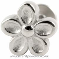 Surgical steel flower labret
