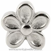 Surgical steel screw-on flower