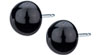 Blomdahl black titanium half ball earrings