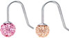 Blomdahl titanium mini crystal ball drop earrings