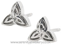 Surgical steel triquetra stud earrings