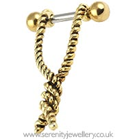Gold twisted rope ear shield