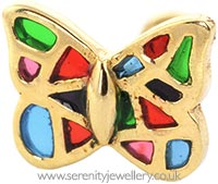Vintage gold butterfly stud