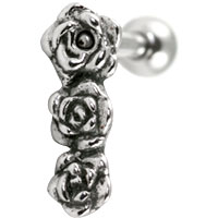 Three roses cartilage earring