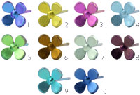 Ti2 titanium small four petal flower studs