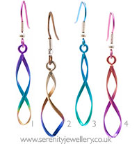 Ti2 titanium figure of 8 drop earrings
