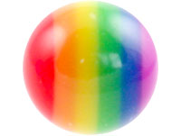 Acrylic screw-on rainbow ball