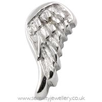Surgical steel screw-on angel wing