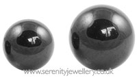 Black PVD steel screw-on ball - 1.2mm gauge