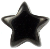 Black PVD steel star labret
