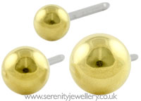 Blomdahl golden titanium ball studs