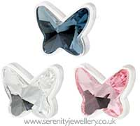 Blomdahl medical plastic butterfly earrings