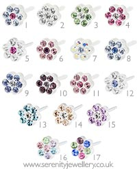 Blomdahl medical plastic daisy earrings