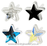 Blomdahl medical plastic star earrings