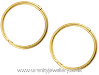 Caflon gold plated silver hinged hoops