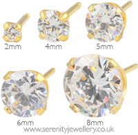 Caflon gold plated steel Cubic Zirconia earrings