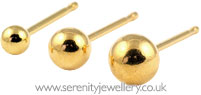 Caflon gold plated steel ball earrings