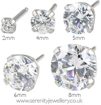 Caflon surgical steel Cubic Zirconia earrings
