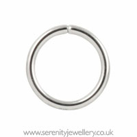 Hypoallergenic Surgical Steel Continuous Ring Earrings
