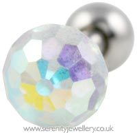 Crystal ball cartilage cartilage earring