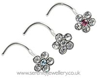 Surgical steel daisy nose stud