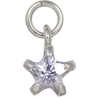 Large dangling crystal star tragus earring