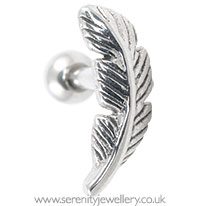 Feather cartilage earring