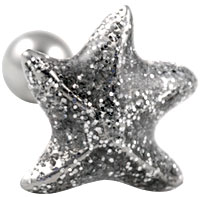 Glitter starfish cartilage earring