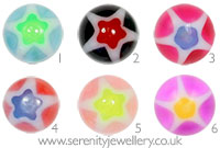 Acrylic screw-on star ball