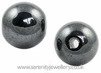 Hematite clip-in ball