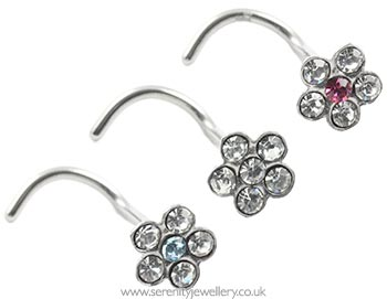 ffbebbf13 Hypoallergenic surgical steel daisy nose studs :: Serenity Jewellery