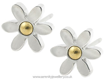 d66ad5947 Hypoallergenic surgical steel daisy flower stud earrings :: Serenity ...