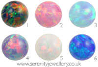 Opal screw-on ball