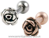 Rose cartilage earring