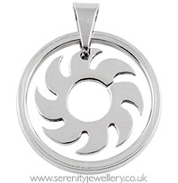 Surgical steel saw blade pendant