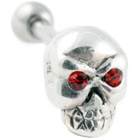 Skull cartilage earring