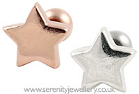 Star cartilage earring
