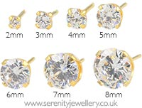 Studex Sensitive gold plated steel Cubic Zirconia earrings