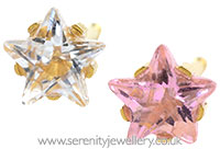 Studex Sensitive gold plated steel CZ star earrings